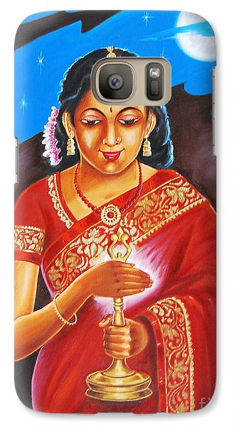 Galaxy Case featuring the painting The Light Of Knowledge by Ragunath Venkatraman
