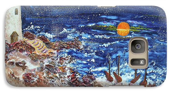 Galaxy Case featuring the painting The Lighthouse by Joy Braverman