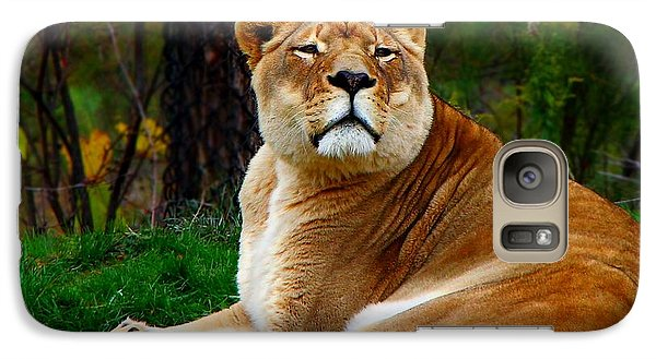 Galaxy Case featuring the photograph The Lioness by Davandra Cribbie