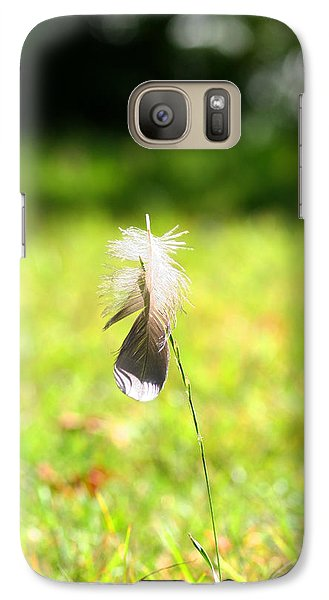 Galaxy Case featuring the photograph The Lost Feather by JM Photography