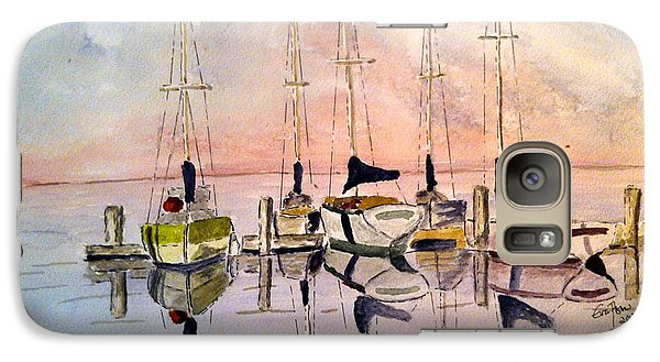 Galaxy Case featuring the painting The Marina by Eva Ason