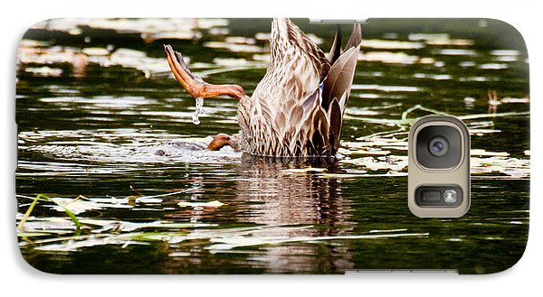 Galaxy Case featuring the photograph The Meaning Of Duck by Brent L Ander