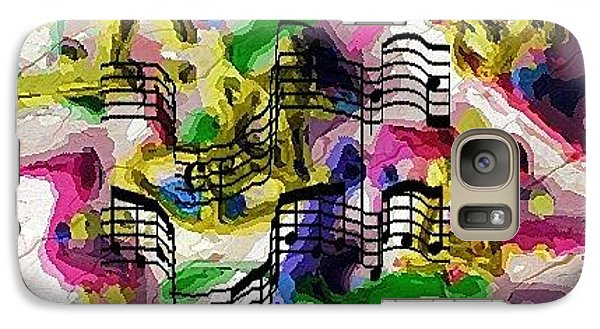 Galaxy Case featuring the digital art The Music In Me by Alec Drake