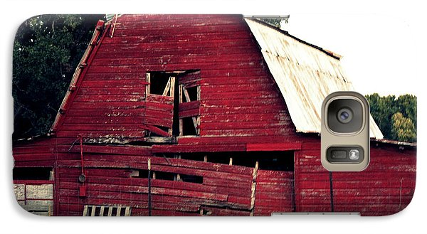 Galaxy Case featuring the photograph The Ole Red Barn by Kathy  White