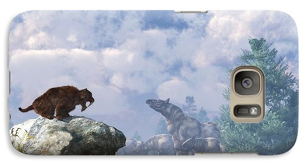 The Paraceratherium Migration Galaxy S7 Case by Daniel Eskridge