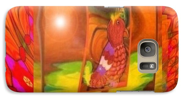 Galaxy Case featuring the mixed media The Parrot From Conneaut Lake Memories by Ray Tapajna