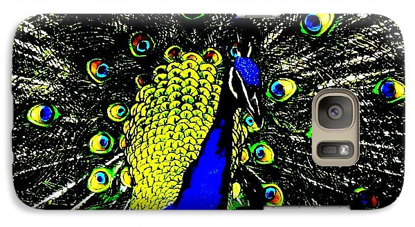 Galaxy Case featuring the photograph The Peacock by John King
