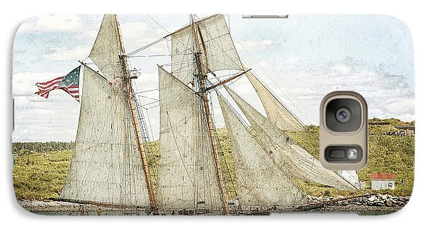 Galaxy Case featuring the photograph The Pride Of Baltimore In Halifax by Verena Matthew