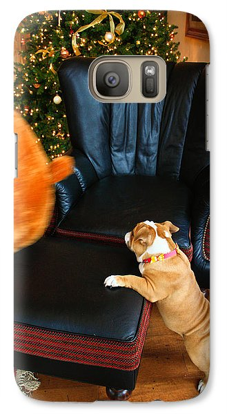 Galaxy Case featuring the photograph The Puppy Chase by Ann Murphy