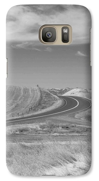 Galaxy Case featuring the photograph The Quiet Road by Kathleen Grace