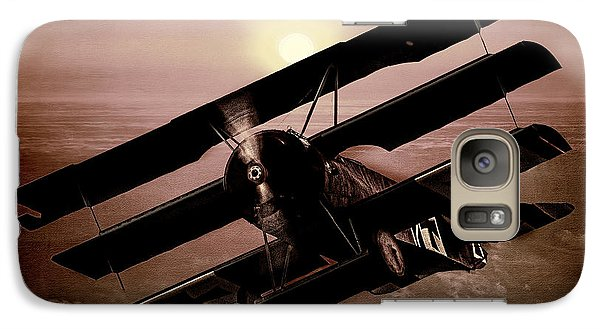 Galaxy Case featuring the photograph The Red Baron's Fokker At Sunset by Chris Lord