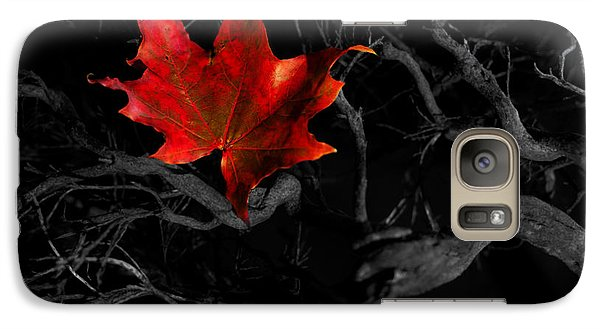 Galaxy Case featuring the photograph The Red Leaf by Beverly Cash