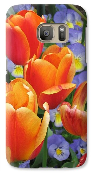Galaxy Case featuring the photograph The Secret Life Of Tulips - 2 by Rory Sagner