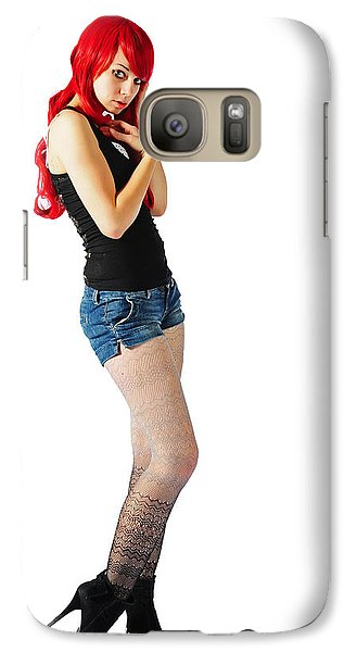 Galaxy Case featuring the photograph The Street Walker by Jim Boardman
