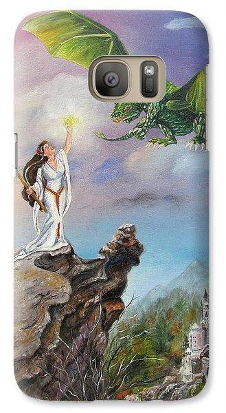 Galaxy Case featuring the painting The Summoning by Lori Brackett
