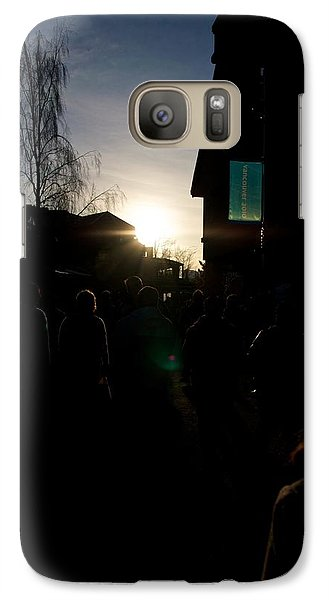 Galaxy Case featuring the photograph The Sun Departs Whistler Bc by JM Photography