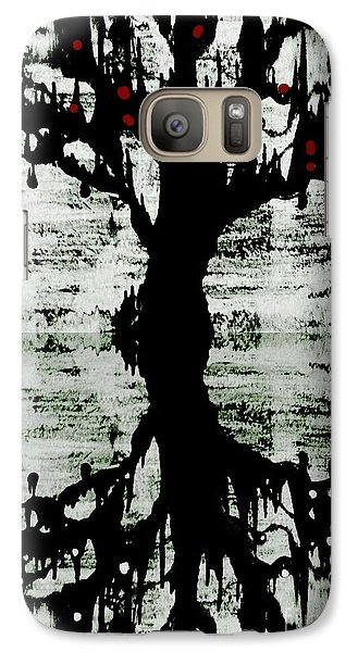 Galaxy Case featuring the painting The Tree The Root by Amy Sorrell