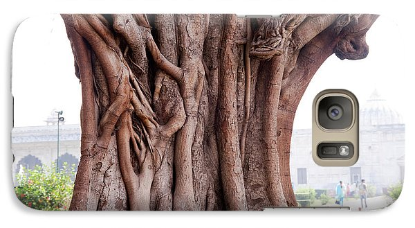 Galaxy Case featuring the photograph The Twisted And Gnarled Stump And Stem Of A Large Tree Inside The Qutub Minar Compound by Ashish Agarwal