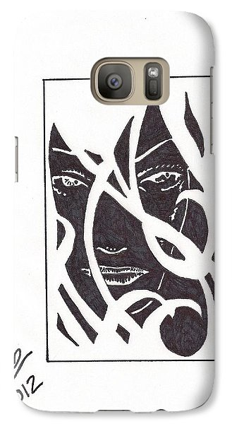 Galaxy Case featuring the drawing The Unkown Woman by Jeremiah Colley