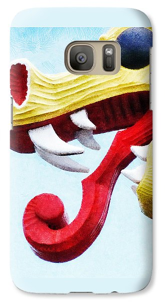Galaxy Case featuring the photograph The Viking Dragon by Steve Taylor