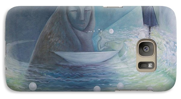 Galaxy Case featuring the painting The Volve Rises Again by Tone Aanderaa
