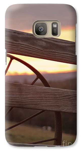 Galaxy Case featuring the photograph The Wagon Wheel by Laurinda Bowling