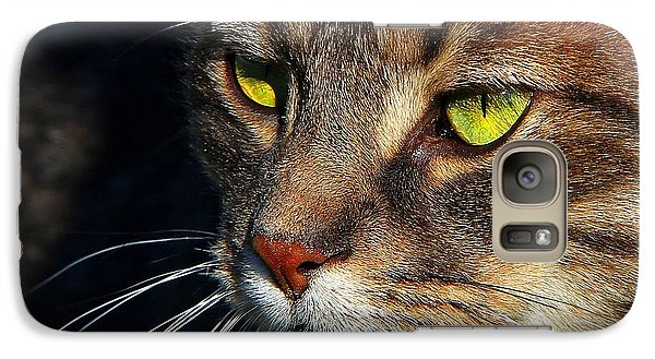 Galaxy Case featuring the photograph The Watcher by Davandra Cribbie