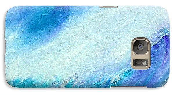 Galaxy Case featuring the painting The Wave by Mary Kay Holladay