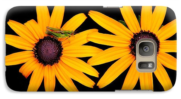 Galaxy Case featuring the photograph The Yellow Rudbeckia by Davandra Cribbie
