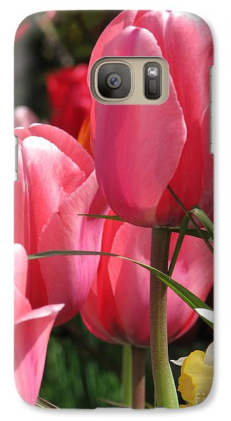Galaxy Case featuring the photograph There Is Pink In Heaven by Rory Sagner