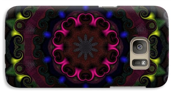Galaxy Case featuring the digital art Think Pink by Alec Drake