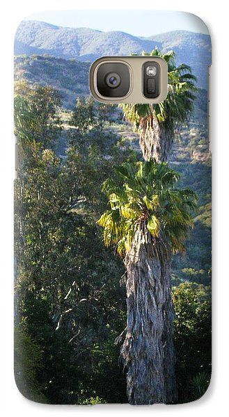 Galaxy Case featuring the photograph Three Palm Trees by Sue Halstenberg