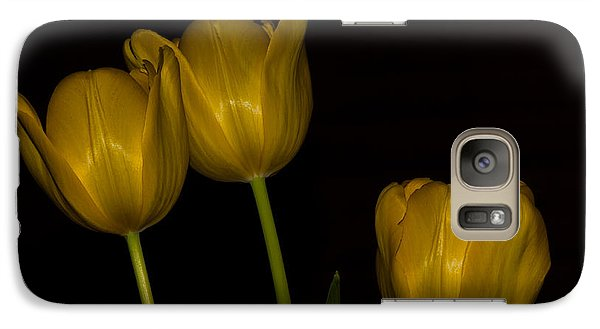 Galaxy Case featuring the photograph Three Tulips by Ed Gleichman