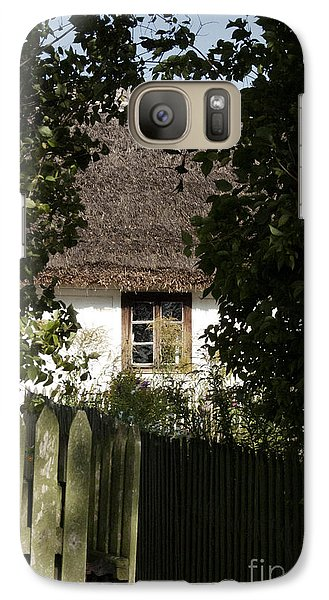 Galaxy Case featuring the photograph Through The Bushes To The Window by Agnieszka Kubica