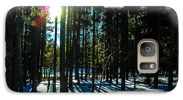 Galaxy Case featuring the photograph Through The Trees by Shannon Harrington
