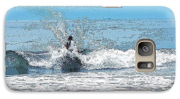 Galaxy Case featuring the photograph Through  The Wave Blues by Maureen E Ritter