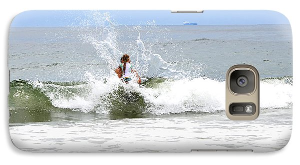 Galaxy Case featuring the photograph Through The Waves by Maureen E Ritter