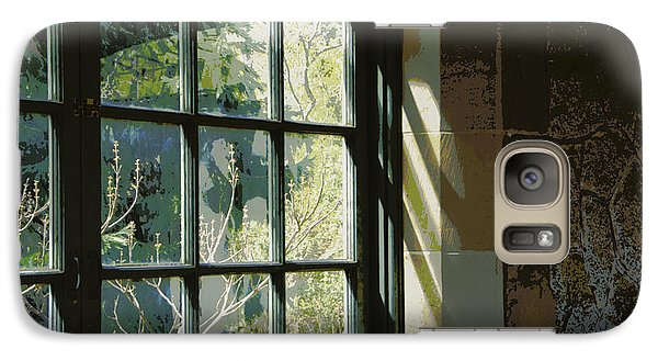 Galaxy Case featuring the photograph View Through The Window by Marilyn Wilson