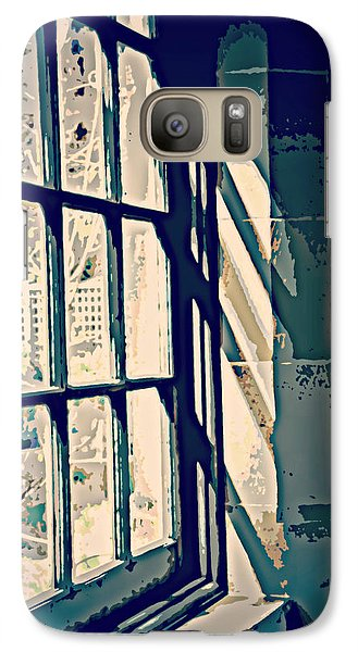 Galaxy Case featuring the photograph View Through The Window - Painterly Effect by Marilyn Wilson