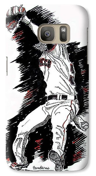 Galaxy Case featuring the painting Tim Lincecum by Terry Banderas