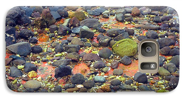 Galaxy Case featuring the photograph Tinopoi Beach Rocks by Mark Dodd