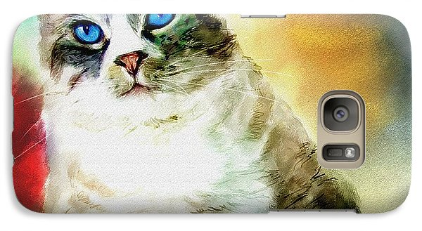 Galaxy Case featuring the painting Toby The Cat by Robert Smith