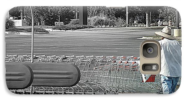 Galaxy Case featuring the photograph Too Many Carts by Renee Trenholm