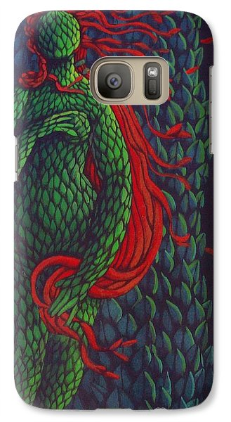 Galaxy Case featuring the painting Topiary Venus Scene by Donna Huntriss
