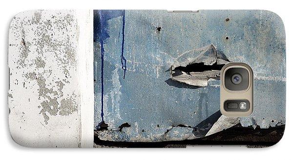 Galaxy Case featuring the photograph Torn Metal Shutter by Agnieszka Kubica