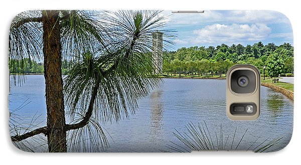 Galaxy Case featuring the photograph Tower Thru The Pine by Larry Bishop