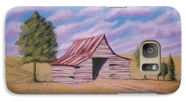 Galaxy Case featuring the pastel Tractor Shed by Stacy C Bottoms