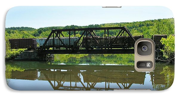 Galaxy Case featuring the photograph Train And Trestle by Sherman Perry