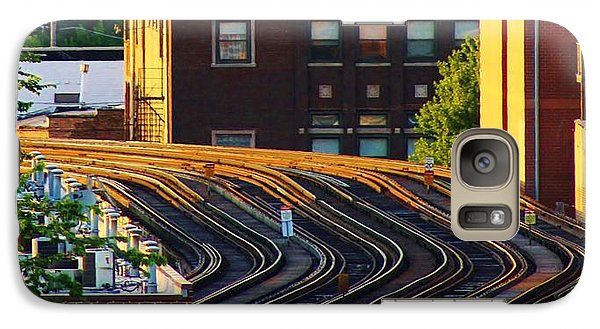 Galaxy Case featuring the photograph Train Tracks by Bruce Bley