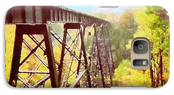 Galaxy Case featuring the digital art Train Trestle by Phil Perkins